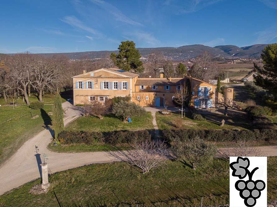 18th C Bastide  for sale with vineyard in the Luberon