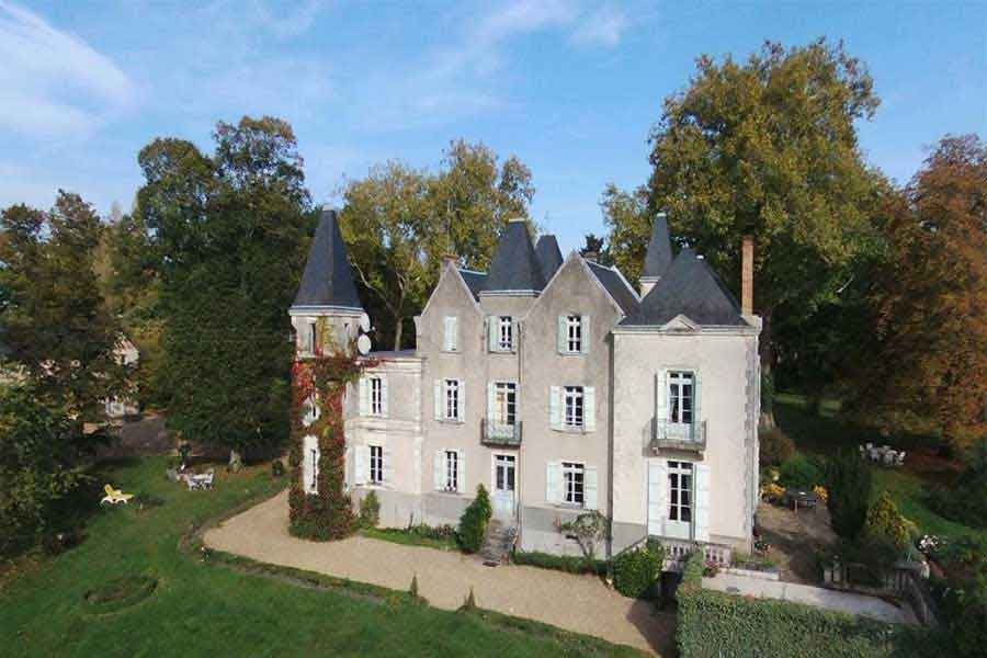 Delightful 18/19th C. Chateau for sale with pool & views