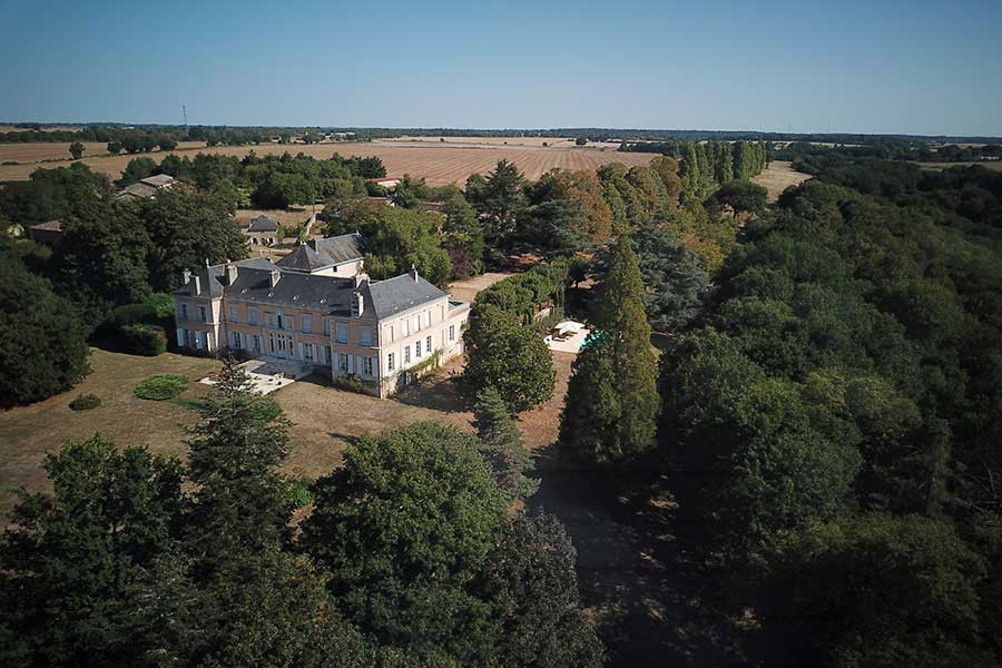 Classical 19th C. Chateau for sale with Chapel & Pool.