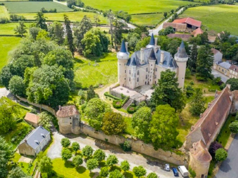 Listed ISMH 12/15th C village chateau for sale
