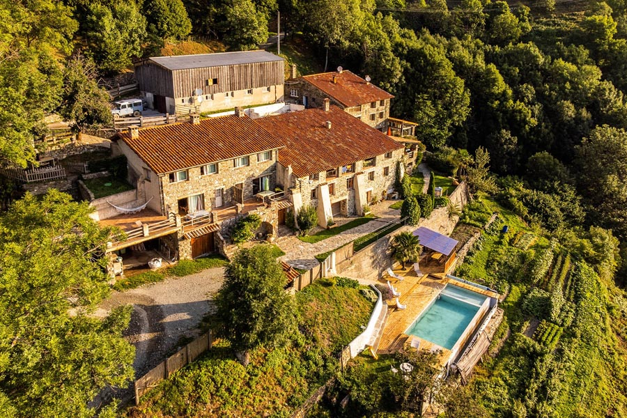 Glorious organic farm for sale with Gites and restaurant